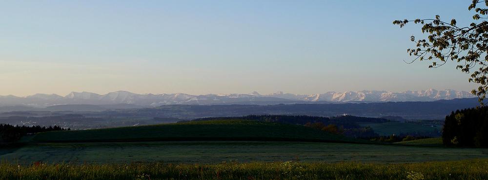 Alpen im Morgenlicht