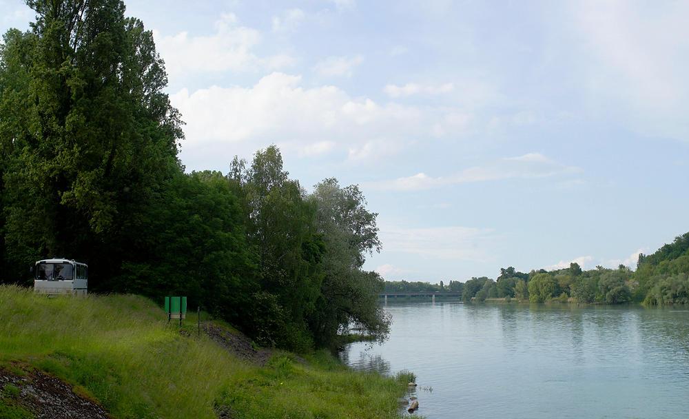 der alte Herr Magirus am alten Rheinkanal