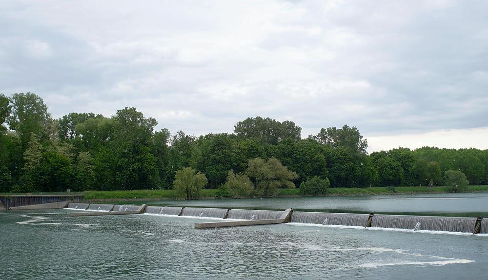 der alte Rheinkanal ~ Wehr