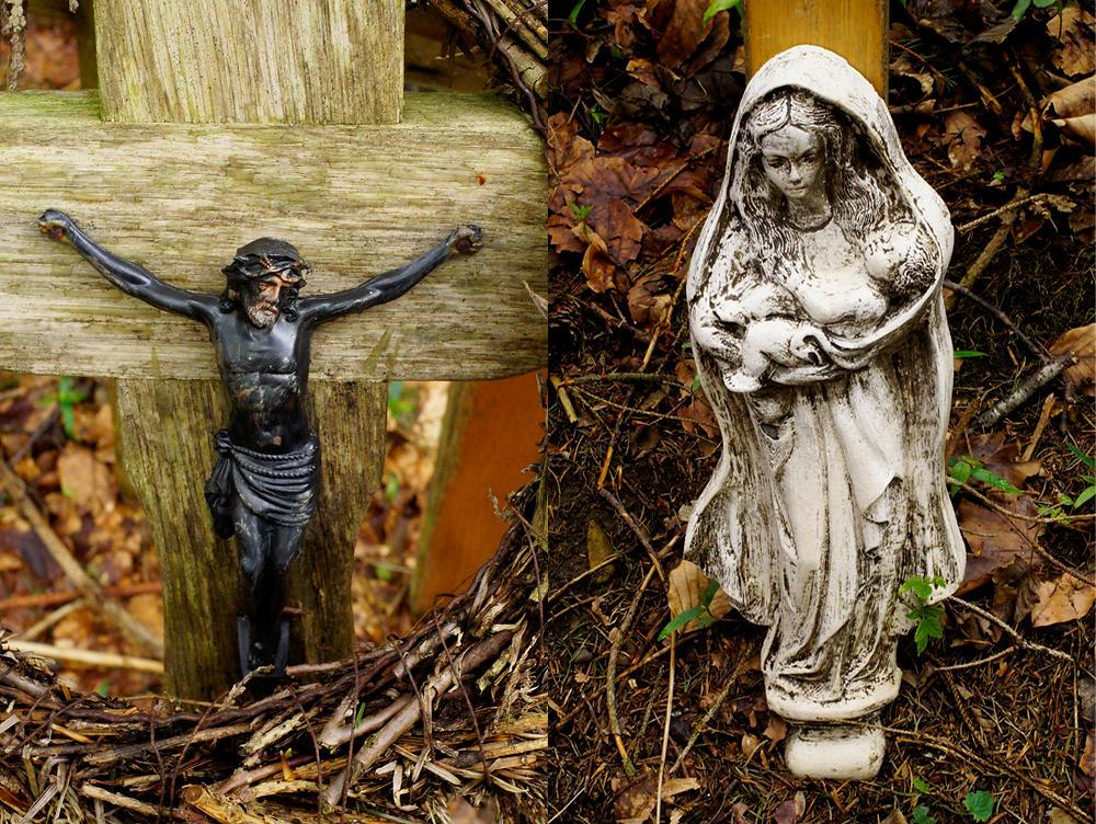 Christus und die Muttergottes