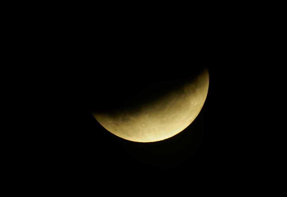 Mondfinsternis, nahe am Maximum