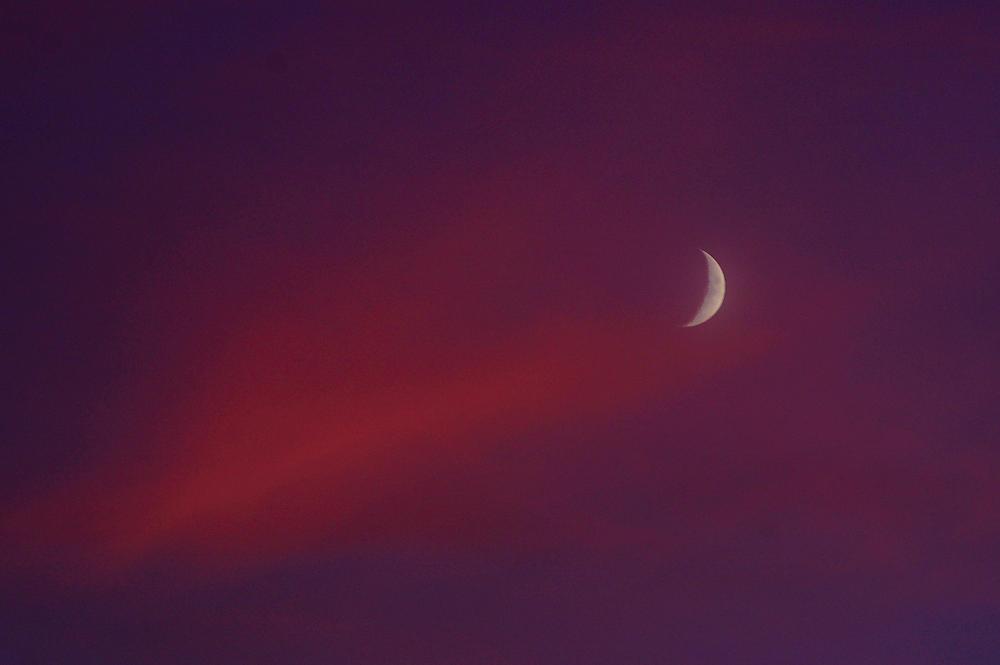 Abendhimmel ~ mit Mond