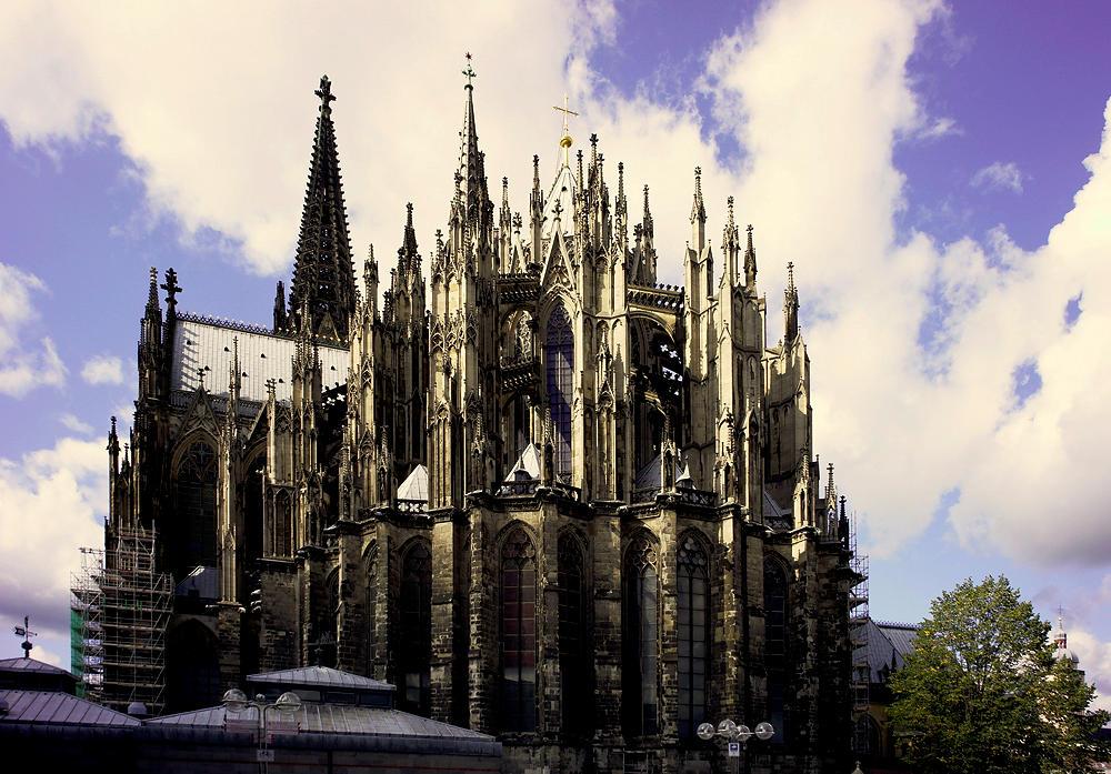 Dom zu Köln, von der östlichen Rückseite aus gesehen