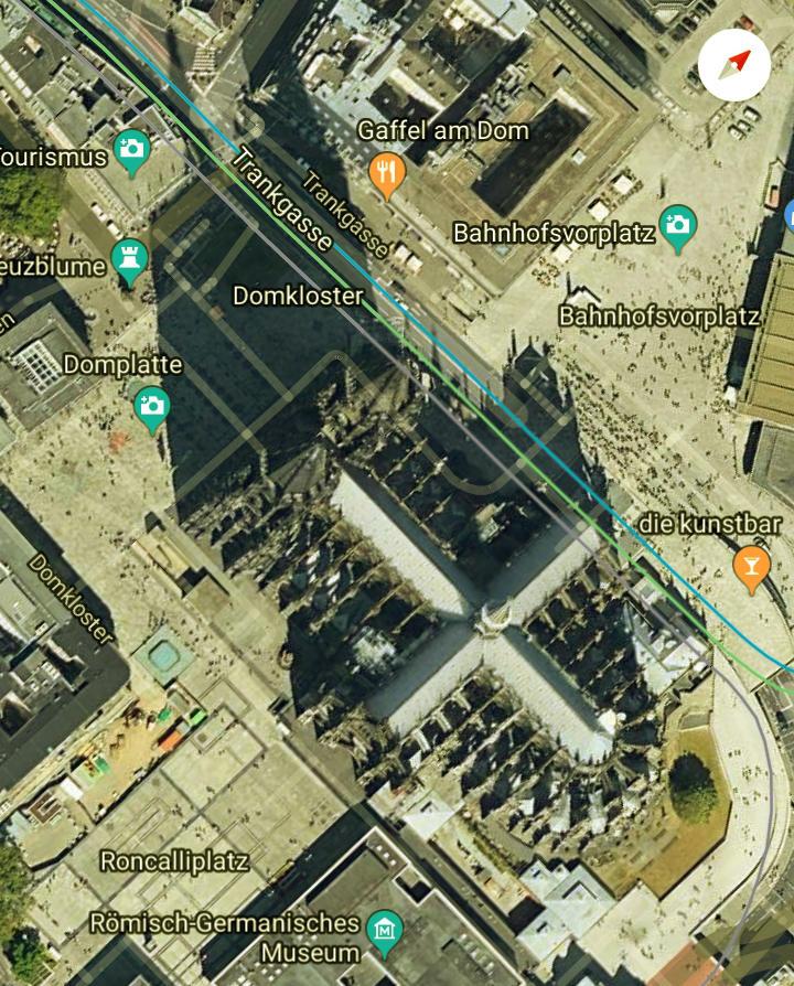Luftbild Dom zu Köln ~ Dank an Google Maps