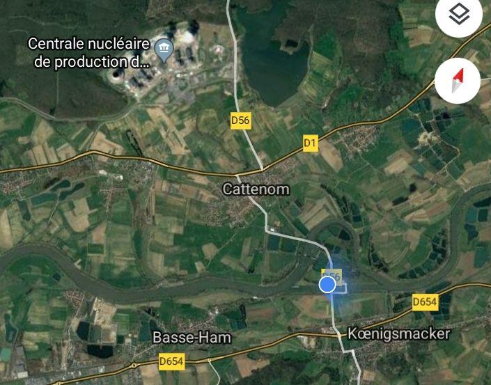 Cattenom ~ Luftbild Google Maps ~ mercie!