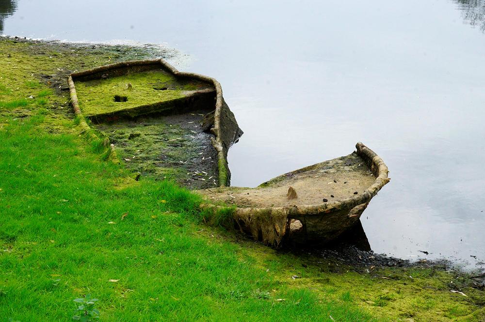Wrack eines Bootes
