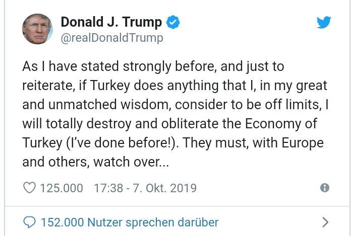 Trump twittert ~ in seiner unvergleichlichen Weisheit :)