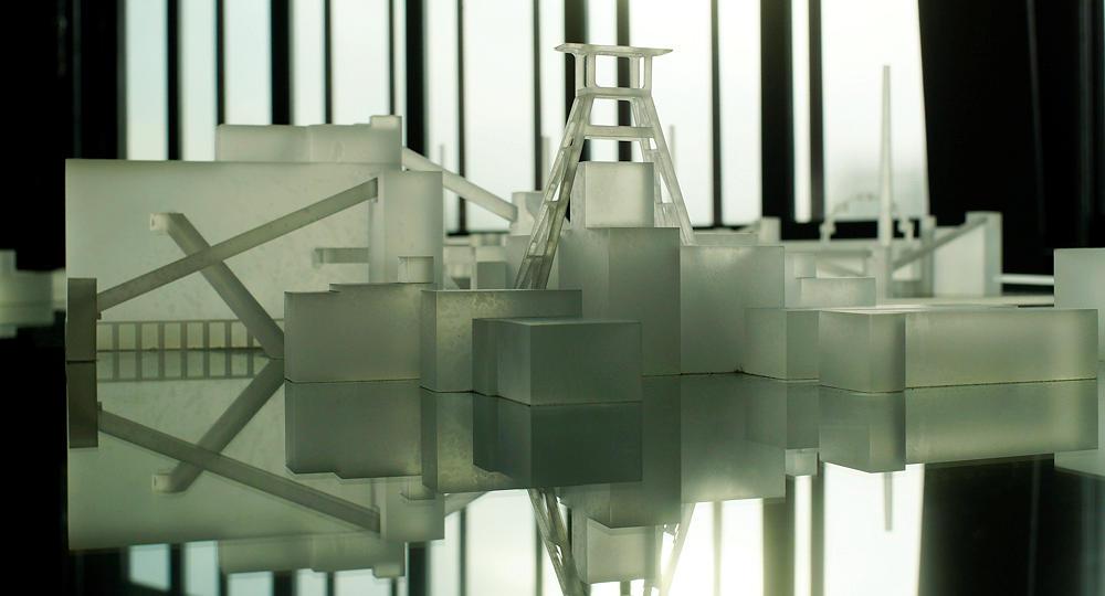 Zeche Zollverein ~ der Komplex als Modell in Glas