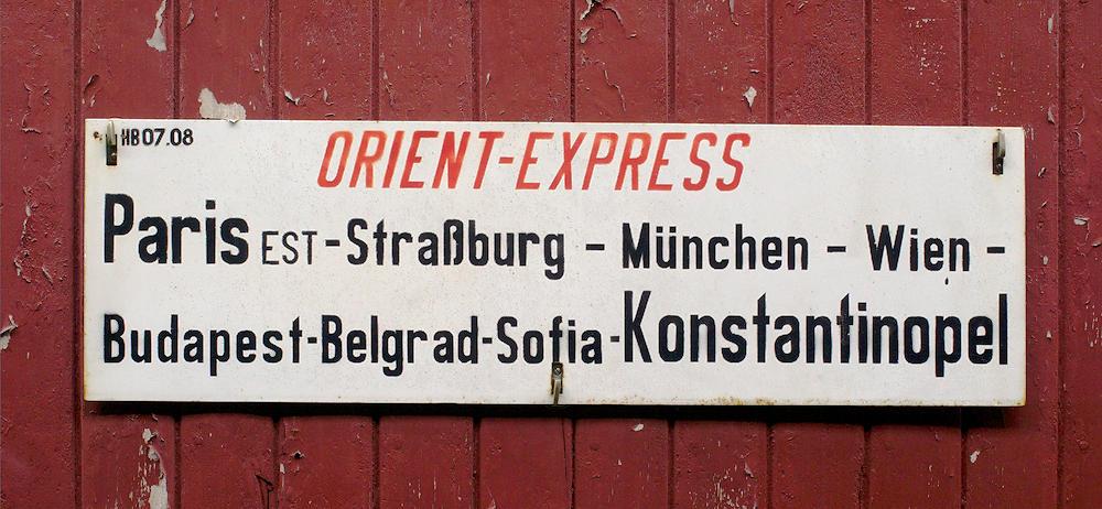 Speisewagen des Orient Express ~ Reiseroute