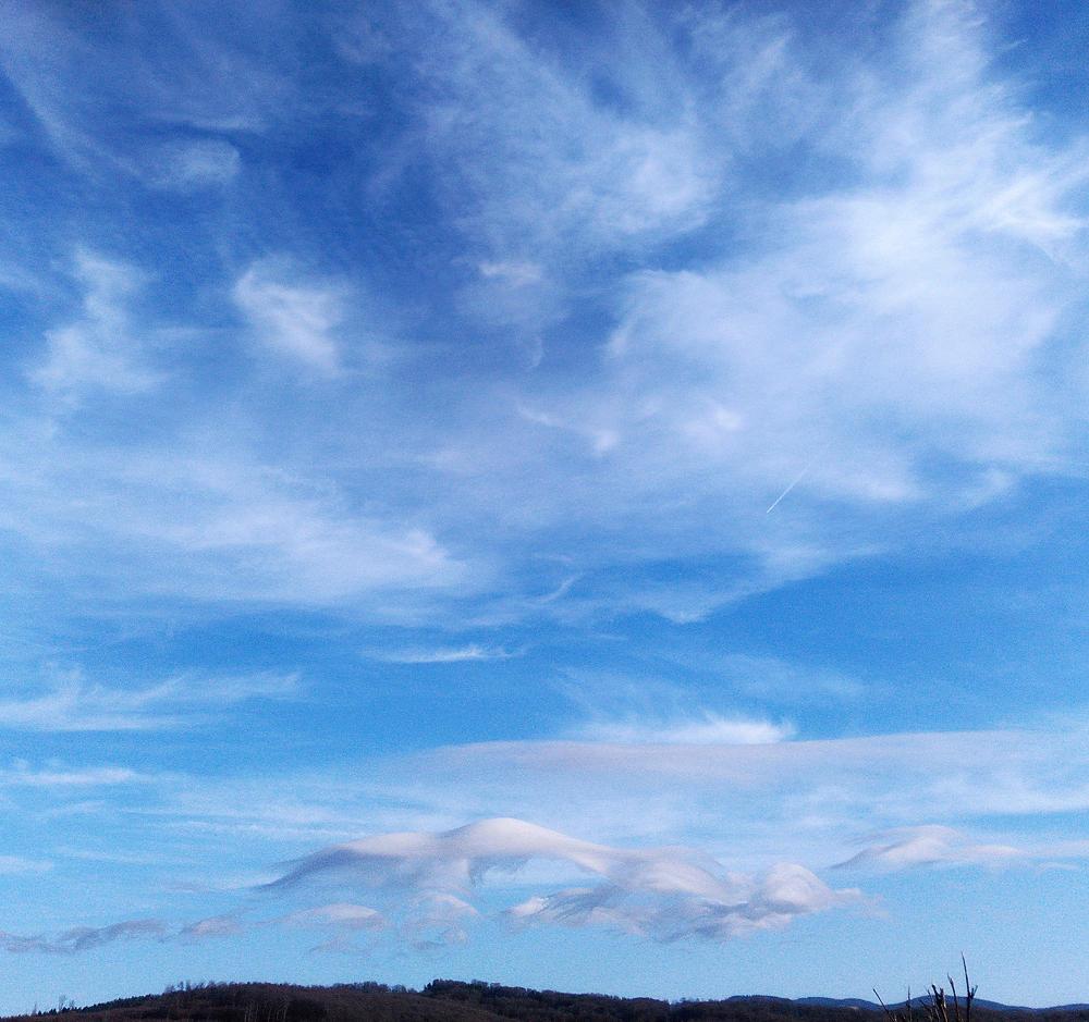 wilde Himmel bei stürmischem Wetter