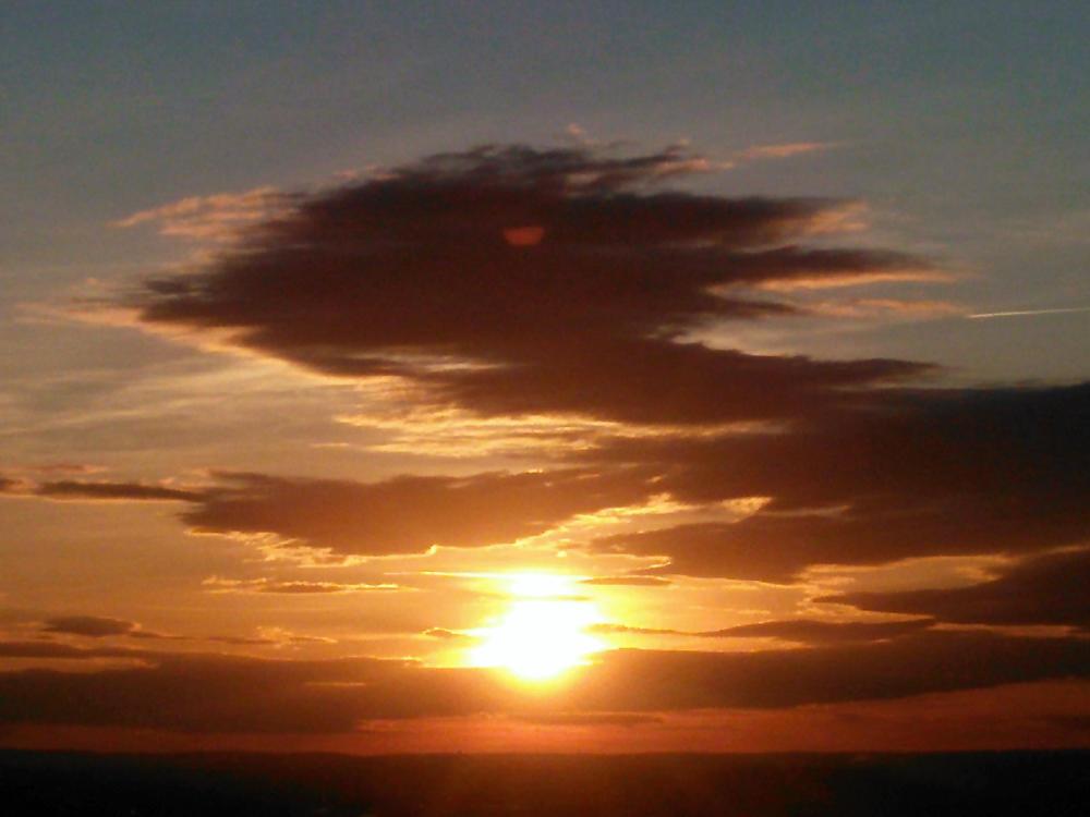 Sonnenuntergang, gestern, 238°