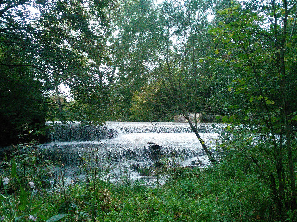 Zufluss des Mühlbachs zur Traun