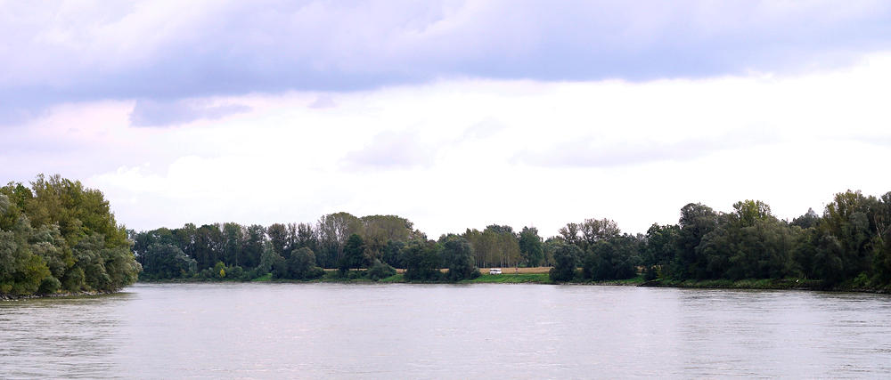 Platz an der Donau am Zufluss des Mittelwassers
