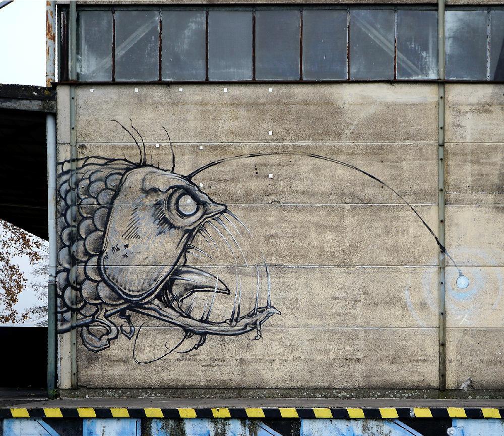 Tiefseefisch mit Lampion