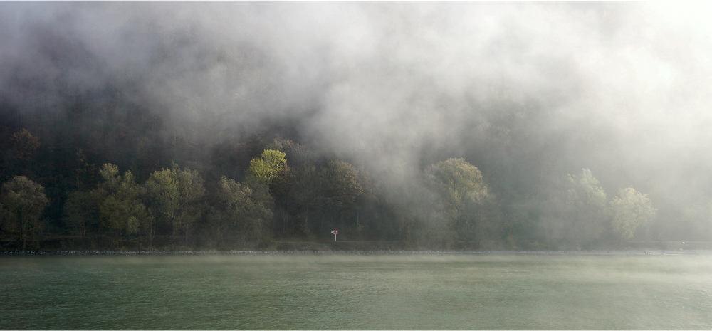 die Nebelflocken heben sich