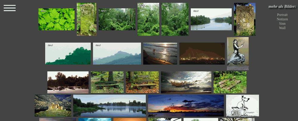 das Bildermosaik ist die neue Startseite